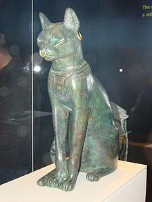 Bastet - the Cat Goddess statue, Egypt, British Museum,664-332 BC.