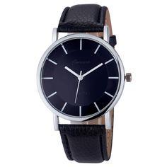 Fashion watch men  montre femme women watches Geneva Retro Dial Leather Analog Quartz Wrist Watches clock relogios femininos#A #Affiliate
