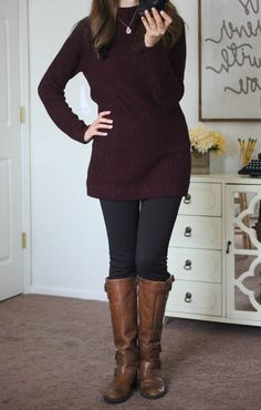 Amberley Cowl Neck Pullover with Reagan Skinny Pant from Stitch Fix - I like everything except the tall boots