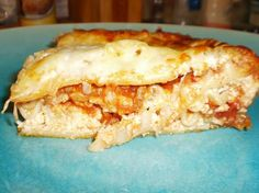 Good Housekeeping lasagna recipe - The one my Nan uses. The key is letting it rest over night or even freezing for a while before cooking.