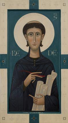 Commission Icon of Saint Bede the Venerable. 2016