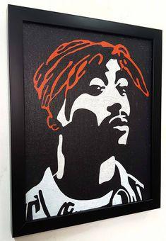 Shakur Wall Art Canvas Framed, Poster Tupac Artwork Paint Painting , Rap Hip Hop Music Interior Decor - New Deko Sites Canvas Artwork, Canvas Frame, Canvas Poster, Frames On Wall, Framed Wall Art, Eminem, Tupac Art, Estilo Hip Hop, Music Wall Art