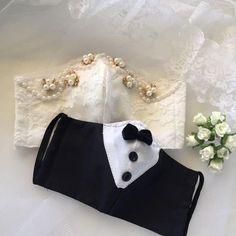 Mouth Mask Fashion, Fashion Face Mask, Easy Face Masks, Diy Face Mask, Lace Bridal, Velvet Bow Tie, Bridal Mask, Lace Mask, Diy Mask