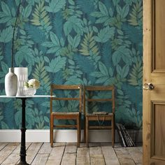 afb7ba6dfc6 Graham   Brown Tropical storm Green   blue Foliage Wallpaper - B Q for all your  home and garden supplies and advice on all the latest DIY trends
