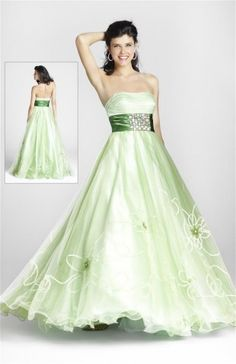formal dresses formal dresses for teens formal dresses for teens long 2014 style a-line strapless applique sleeveless floor-length organza sage prom dress/evening dress