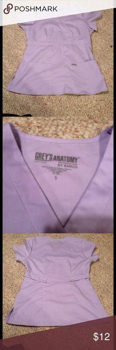 Greys Anatomy small purple scrub top solid short s Greys anatomy light purple small scrub top by Barco short sleeve with pockets grey's anatomy  Tops Tees - Short Sleeve