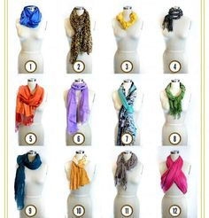 12 ways how to tie your scarf!