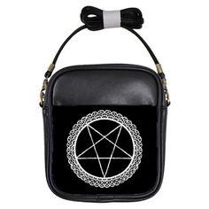 Lace Pentagram Shoulder Sling Purse by StuffoftheDead on Etsy