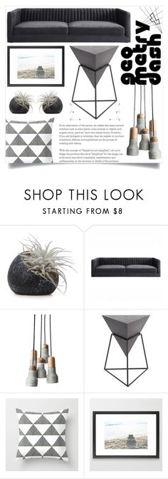 """""""Living Room - Geometry"""" by artbyjwp ❤ liked on Polyvore featuring interior, interiors, interior design, home, home decor, interior decorating, Chive, Uma and living room"""