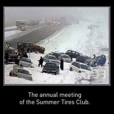 The annual meeting of the Summer Tires Club. So true! R Memes, Funny Memes, Hilarious, Meanwhile In Canada, Haha, Annual Meeting, Just For Laughs, I Laughed, Laughter
