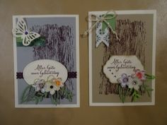 Karte Geburtstag Stampin up Geburtstagskarte SU neutral Männer Frauen Holz Blumen einfach Schmetterling schnelle Glückwunsch