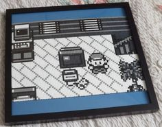 Cool pixel art for your home - A3 The Journey Begins monochrome Pokemon hama bead by kendaljames, £60.00