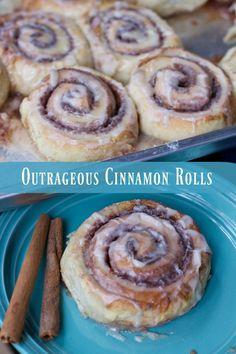 Outrageous Cinnamon Rolls Recipe breakfast recipes, baking for breakfast cinnamon buns