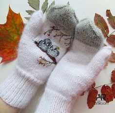 Knitted Slippers, Knit Mittens, Knitted Hats, Knitting Paterns, Crochet Patterns, Creative Textiles, Handicraft, Arm Warmers, Winter Hats