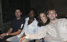 Members of the LOST cast before the Tower of Terror started. So cute!!! I think this might've been when Dom and Evangeline Lilly were dating!