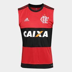 2ded423317929 Camiseta Regata Flamengo I 17 18 S Nº C  Patrocínio Adidas Masculina -