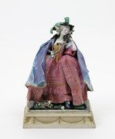 A Gwendoline Parnell Chelsea Cheyne figure of a lady in 18th Century Dress - Lot 256 - British Art Pottery