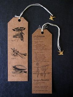 "LOVE this bookmark wedding invitation!! Great StD idea too ""Save a place for me""."