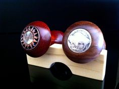 more custom made wine stoppers... check out the inlays. :)