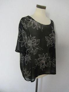 Vintage Canda voile blouse  Maat 48  Prijs: € 7,50
