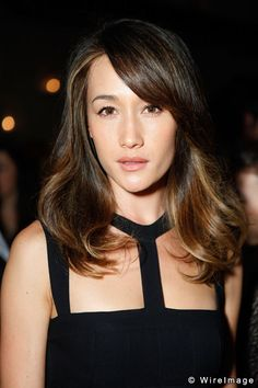 maggie q in balayage/ombre for dark/black hair