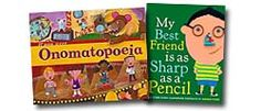 Picture books for Language Arts topics (everything from nouns, synonyms, metaphors, word families, punctuation, etc.)