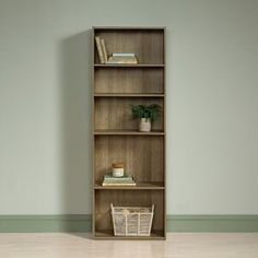 Andover Mills™ Ryker Standard Bookcase & Reviews | Wayfair Large Bookshelves, 5 Shelf Bookcase, Particle Wood, Display Homes, Home Look, Wood Design, Home Decor Items, Adjustable Shelving, Storage