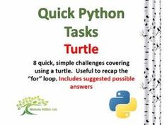 Turtle (Quick Python Challenges) by nwilkin - Teaching Resources - TES