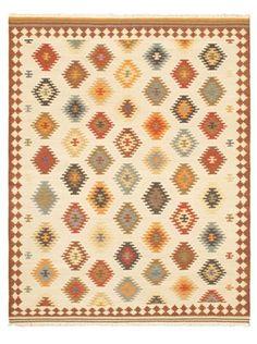 75% OFF Hand Woven Anatolian Kilim, Brown/Cream, 8' x 10'
