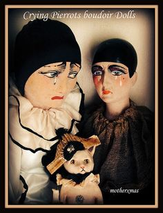 1920's Crying Pierrot Bouoir Dolls | Flickr - Photo Sharing!