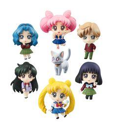 Sailor Moon Petit Chara Pretty Soldier Sammelfiguren 7er-Pack More School Life