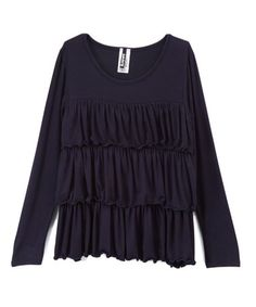 This Navy Tiered Top - Girls is perfect! Tiered Tops, Kids Tops, Top Girls, Navy, Women, Fashion, Hale Navy, Moda, Women's