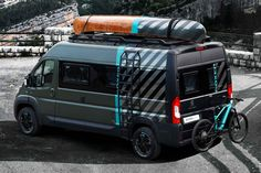 Peugeot isn't about to miss out on the adventure van craze, and have reinvented their Boxer utility van as an outdoor-ready vehicle. The exterior. Ducato Camper, Fiat Ducato, Peugeot, Jeep Pickup, Pickup Trucks, Motorhome, Combi Ww, Boxer, 4x4 Camper Van