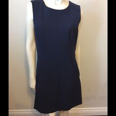 "DVF Diane Von Furstenberg Carpreena Mini Dress DVF Diane Von Furstenberg Navy Blue Carpreena Mini Dress - NWT.  Roundneck Sleeveless Besom pockets Full-length exposed back zipper Polyester/Viscose/Cotton/Elastane Dry clean Bust: 36"", Waist: 32"", Hip: 38"", Length: 36"" Diane von Furstenberg Dresses Midi"