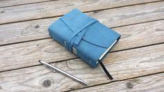 Tagebuch aus Leder, Lederbuch Notizbuch  von Handgearbeitete Geschenkideen aus Leder auf DaWanda.com