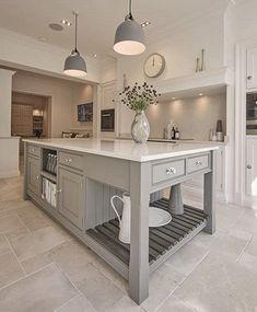 Shaker Kitchens - Warm Grey Shaker Kitchen - Tom Howley