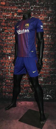 0453de1ebb6 17/18 A Quality Adult Barcelona Home Soccer Jersey Uniform Man Football Kits  Sport Jersey