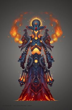 FireMage Armor by DmitriyBarbashin on deviantART