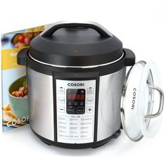 Cosori 7-in-1 Multi-Functional Pressure Cooker with Glass Lid and Sealing Ring, 6Qt / 1000W -- Awesome products selected by Anna Churchill