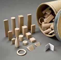 Set di blocchetti di legno in confezione grande @ Hukkatoys