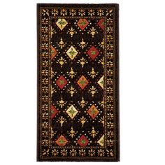 Safavieh Porcello Fine-spun Regal Chocolate/ Multi Area Rug (2' x 3'7), Brown (Polypropylene, Geometric)