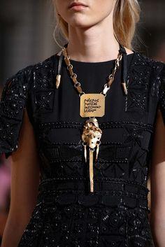 "Valentino Fall 2015 Couture Fashion Show Details: ""Pulcrae puellae inferunt bellum."""