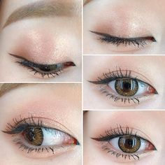 Korean Eye Make Up #Korean #MakeUp #EyeMakeUp #Ulzzang