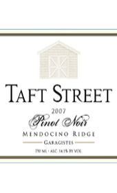 """An homage to the """"garagistes"""" tradition of crafting small lots of outstanding fruit in an environment other than a French Chateau (in this case, in a garage in the 1970's), Taft Street's 2007 'Garagistes' Pinot Noir is deep reddish purple in color with distinct varietal notes of blackberry, boysenberry and cherry. Balanced acidity and intriguing oak undertones lead into an elegant finish. 98 Point rating, Double Gold Medal, Best of Class and Best in Region at the CA State Fair Wine…"""