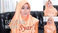 Tutorial Hijab Segi Empat Menutup Dada Simple
