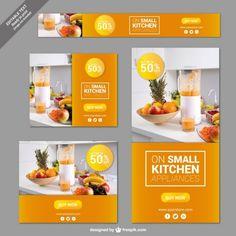 Küchengeräte Banner Kostenlose Vektoren