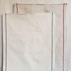 Muhs Home - Fog Linen Thick Line Kitchen Towel