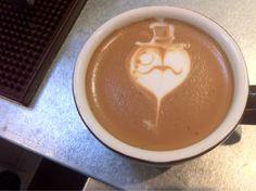 Now that's art. Mustache latte