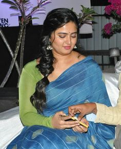 Beauty At Its Best Anushka Shetty Padda Saab Saree Beauty