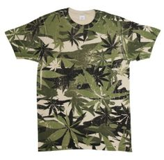 Marijuana Pot Leaf Camouflage Camo T-Shi...